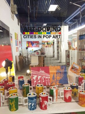ART-DOMINO CITIES IN POP-ART