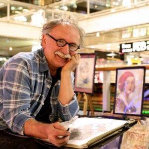 Portraitzeichner im Europa-Center