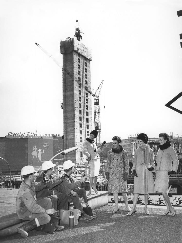 Während der Bauarbeiten