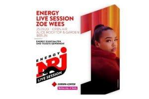 Das Europa-Center präsentiert: ENERGY LIVE SESSION mit ZOE WEES