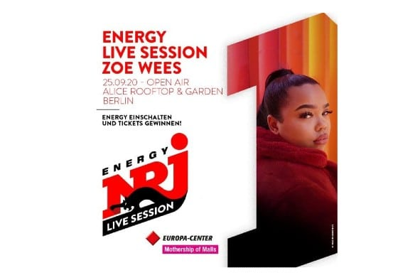 The Europa-Center presents: ENERGY LIVE SESSION with ZOE WEES