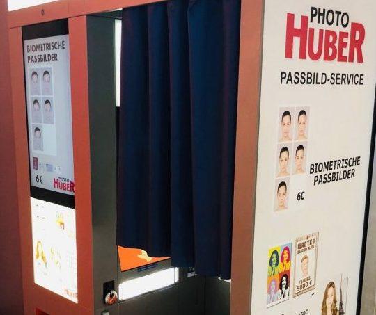 Passport photo machine