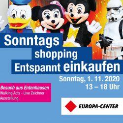 Besuch aus Entenhausen im Europa-Center